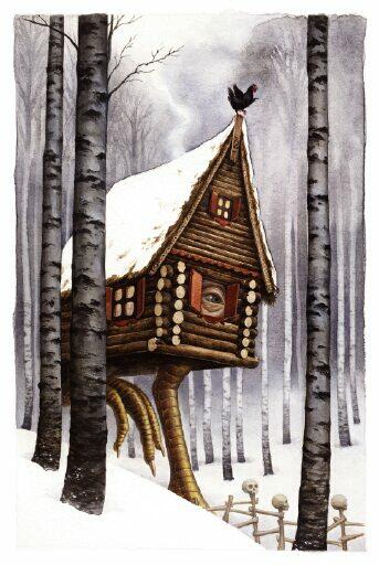 Baba Yaga hut Bojana Dimitrovski freelance illustrator advocate art